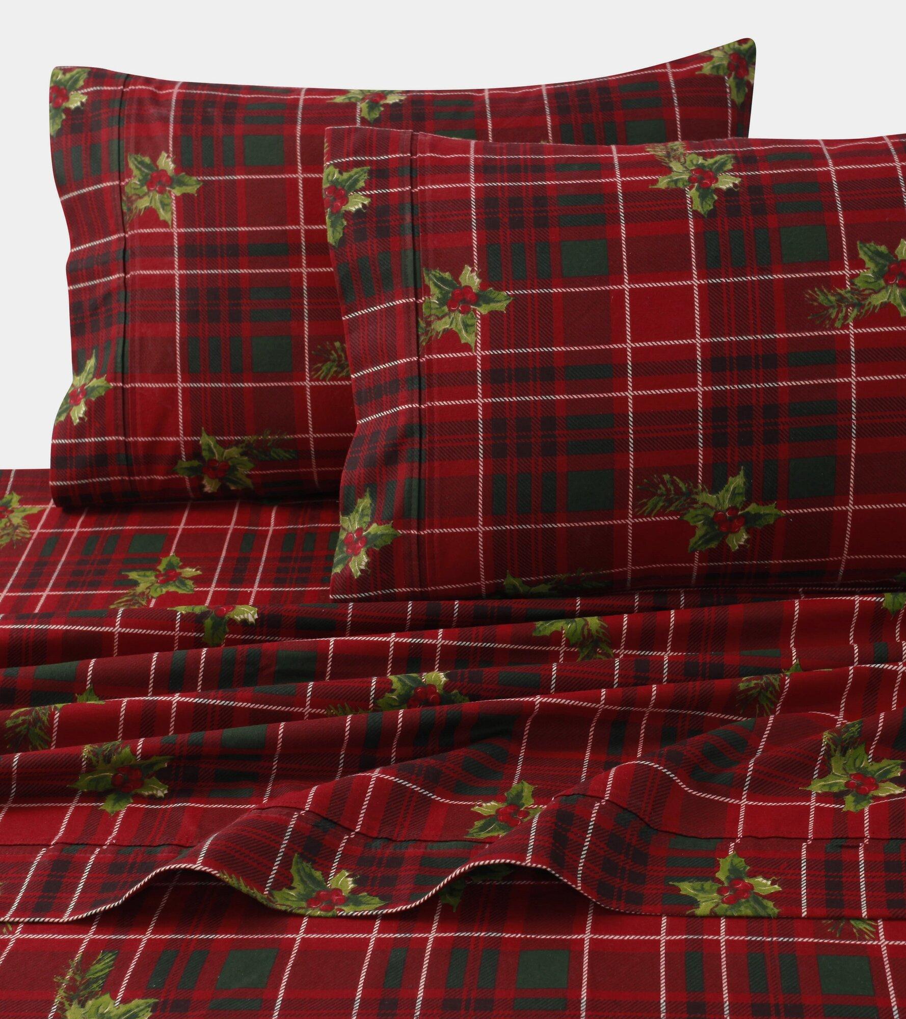 tribeca living vintage plaid print 4 piece 100 cotton sheet set ebay. Black Bedroom Furniture Sets. Home Design Ideas