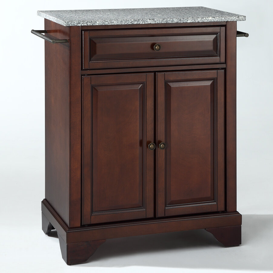 crosley lafayette kitchen island with granite top ebay