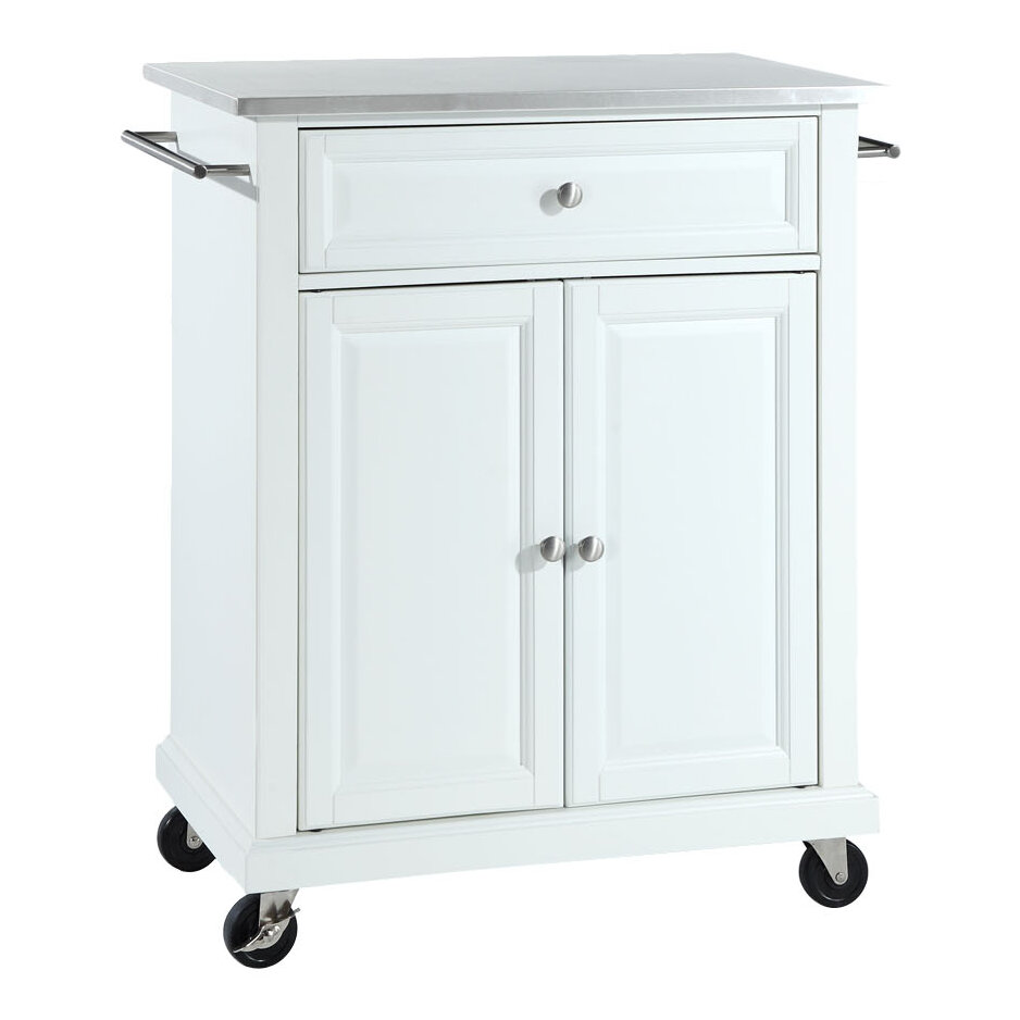 Crosley Kitchen Cart With Stainless Steel Top Ebay