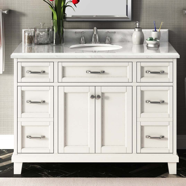 "Lanza Carolina 48"" Single Bathroom Vanity Set Ebay"