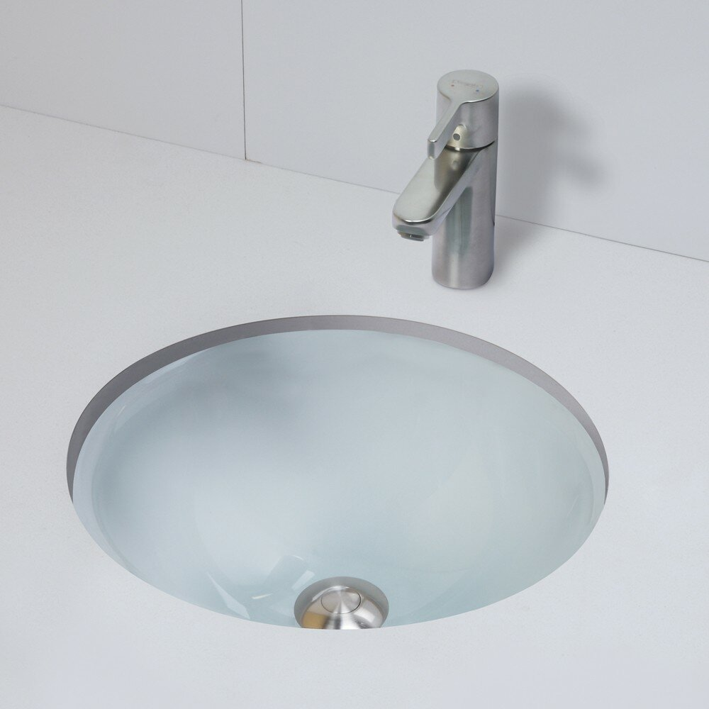 DECOLAV Translucence Circular Undermount Bathroom Sink
