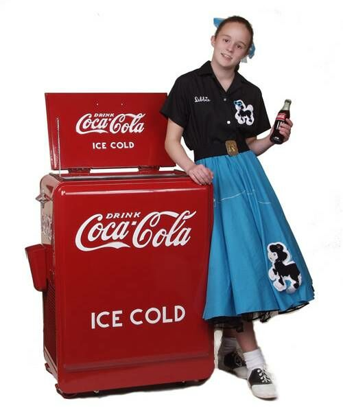 American Retro Classic Coca-Cola Refrigerated Machine
