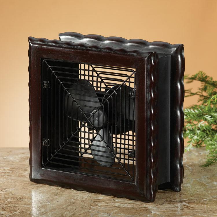 Wood Frame Carlisle Decorative Table Top Fan