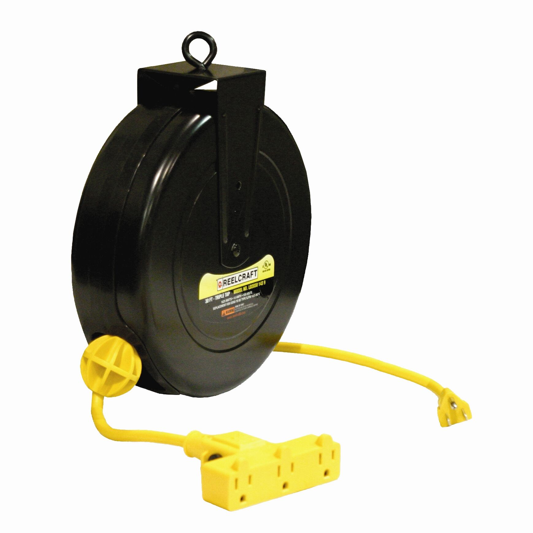 Fluidbro Completely Power 1 Extension 25 Ft Cord Reel 4 Outlet 12 Amp Construction Circuit Features Triple Ideal Use Is For A Delivering Longer Lengths Of Heavier Gauge Constructed From High Impact