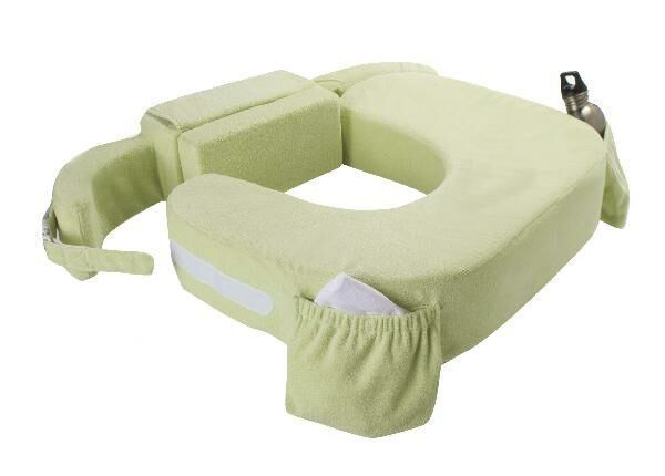 My Brest Friend Deluxe Twin Nursing Pillow in Green
