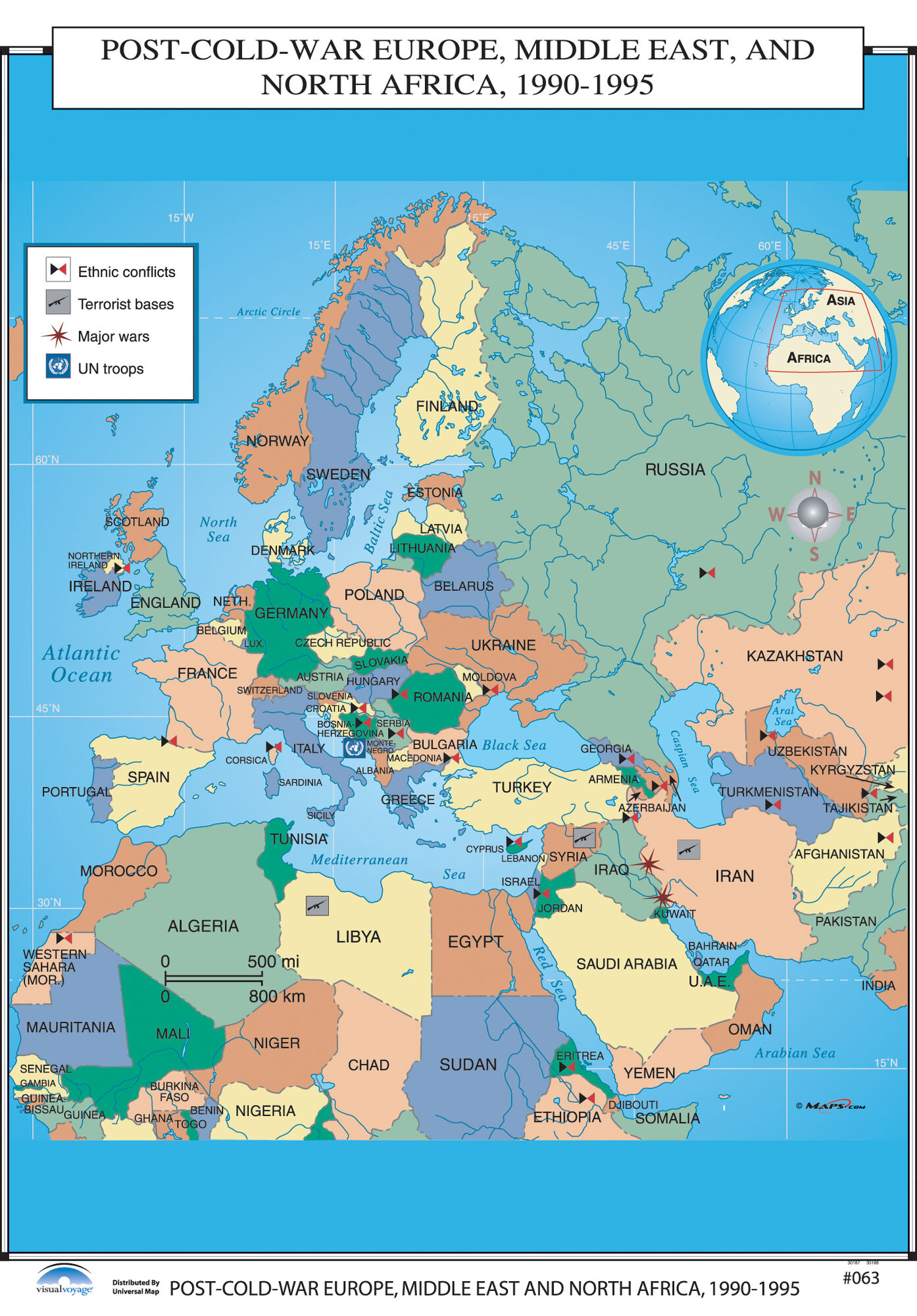 World War Ii Map Of Europe And North Africa