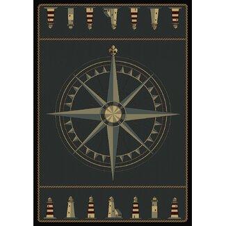 Contours Compass Nautical Rug
