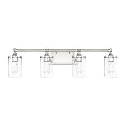 Beachcrest Home Vanity Clear Beveled Glass Light Vanity Lighting