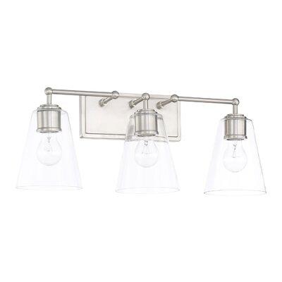 Three Posts Glass Shade Vanity Light Vanity Lighting