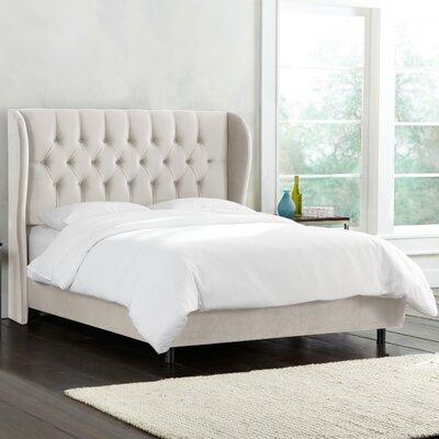 Brayden Studio Linen Upholstered Panel Bed Tufted Beds