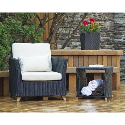 All Things Cedar Rattan Teak Patio Chair Cushions Table