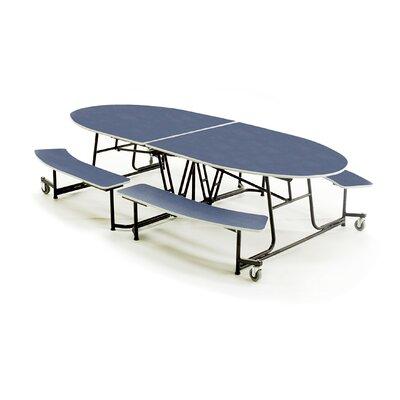 Elliptical Cafeteria Table