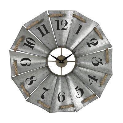 Gracie Oaks Aluminum Rope Wall Clock Mansell Wall Clocks