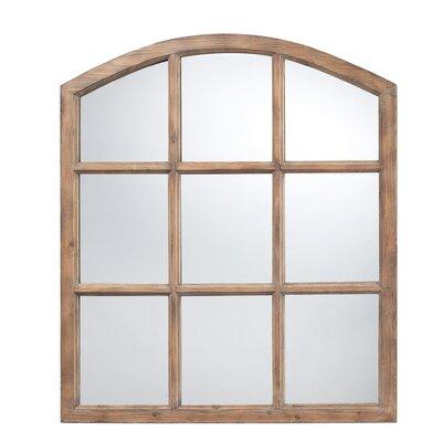 Gracie Oaks Light Oak Wood Wall Mirror Faux Mirrors