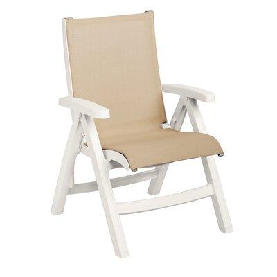 Grosfillex Commercial Resin Lounge Chair Set Frame White Khaki