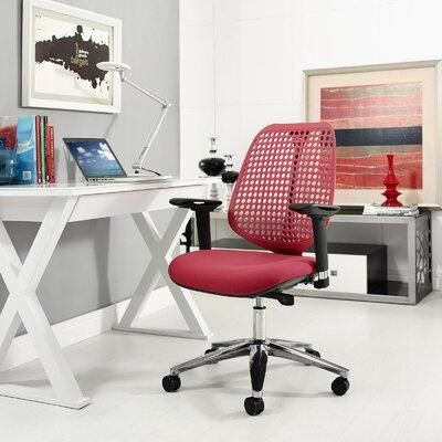 Modway Premium Ergonomic Task Chair Upholstery Red