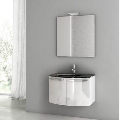 Acf Dance Wall Mounted Single Bathroom Vanity Set Mirror