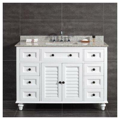 Ove Decors Tiger Granite Rectangular Basin Vanity Set Single Vanities