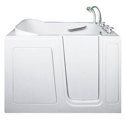 Long Air Hydro Massage Whirlpool Tub Drain Location Right