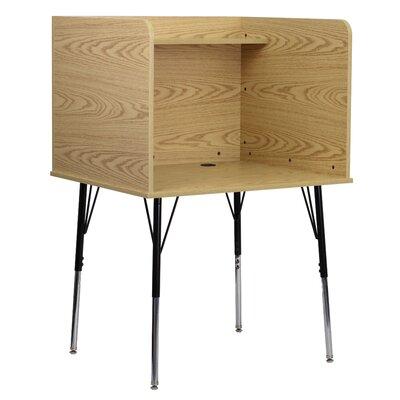 Flash Wood Adjustable Height Study Carrel Oak