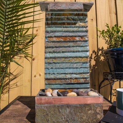 Wildon Home Rapids Table Wall Fountain Light Stone Fountains