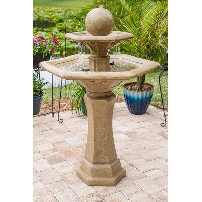 Wildon Home Outdoor Floor Fountain Resin Fountains