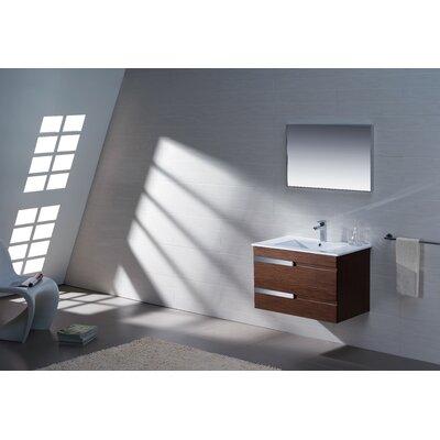 Adornus Single Bathroom Vanity Set Mirror Base Wenge