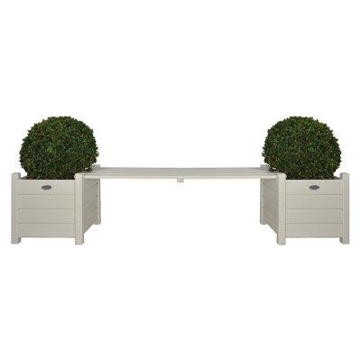 Esschert Design Wood Planter Bench White