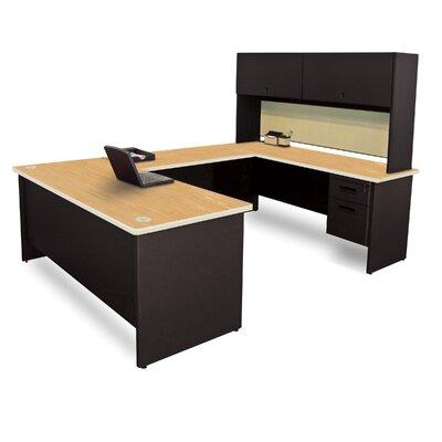 Flipper Door Unit Executive Desk Hutch Top Oak