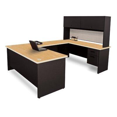 Marvel Lock Executive Desk Hutch Top Oak