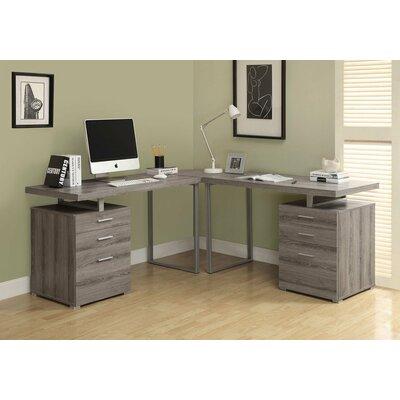 Latitude Run Shape Corner Desk L Desks