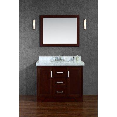Corrigan Misty Single Bathroom Vanity Set Mirror Product Image