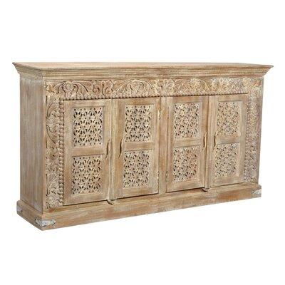 Bungalow Rose Brown Solid Wood Sideboard