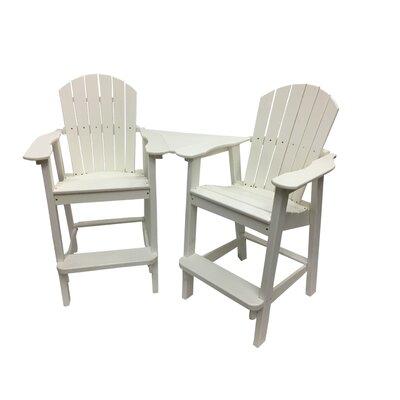 Buyers Choice Plastic Adirondack Chair White