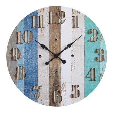 Highland Dunes Mdf Wall Clock Round Wall Clocks
