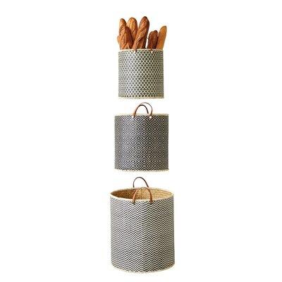 Union Rustic Basket Set Palm Storage