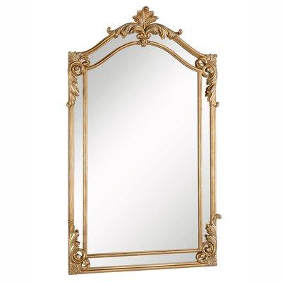 Astoria Grand Wood Wall Mirror Gold Mirrors