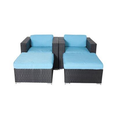 Ebern Designs Lounge Chair Set Cushions Turuoise