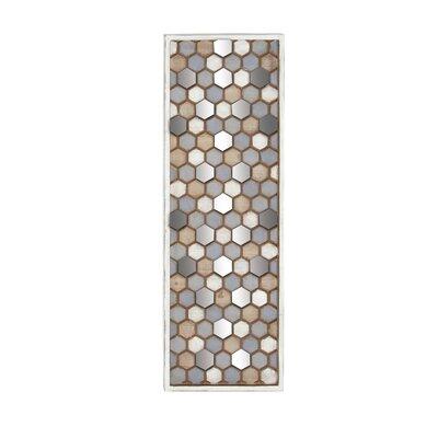 Brayden Studio Mirror Wall Honeycomb Wall Decor