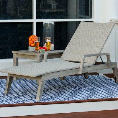 Co9 Design Reclining Teak Chaise Lounge Design
