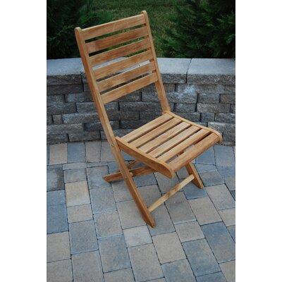 Arbora Teak Bart Folding Teak Patio Dining Chair Cushion
