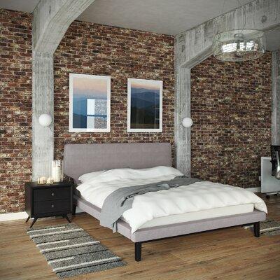 Modway Queen Platform Bedroom Set Grey