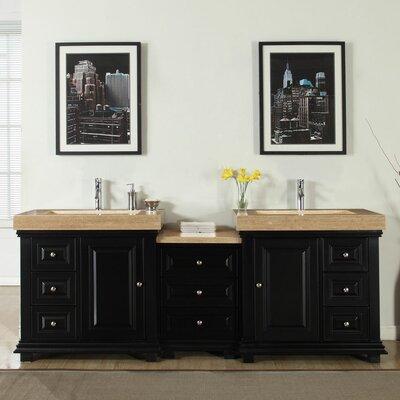 Bloomsbury Market Cathrine Double Sink Modern Bathroom Vanity Set