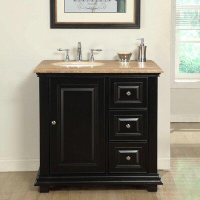Fleur De Lis Living Single Sink Bathroom Vanity Set Sink On Left