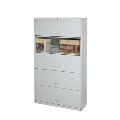 Datum Storage Door Legal Size Locking High Cabinet Light Gray