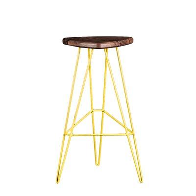 Tronk Design Bar Stool Seat Maple Base Yellow