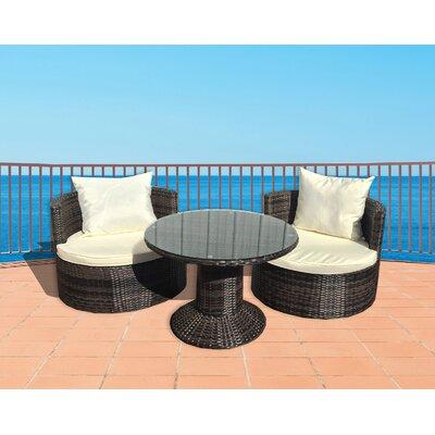 Deeco Sunbrella Conversation Set Cushions Vino Conversation Sets