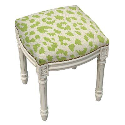 Bloomsbury Market Cheetah Linen Upholstered Vanity Stool Rustic Accent Stools