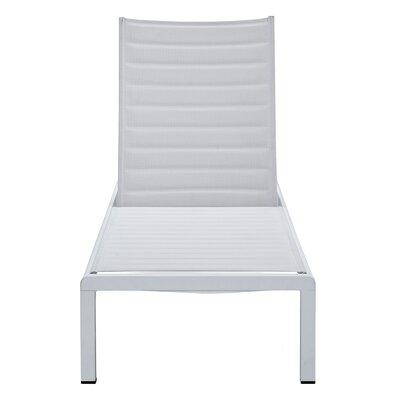 Meelano Chaise Lounge White White