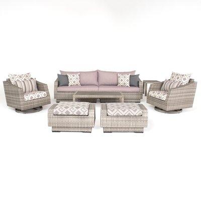 Wade Logan Rattan Sofa Seating Group Cushions Deluxe Conversation Sets